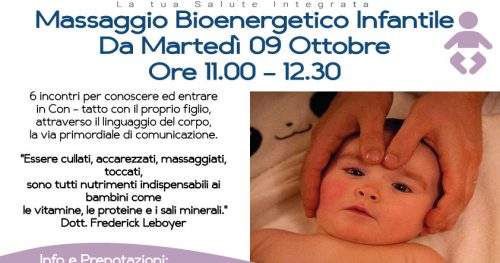 09 Ottobre – Massaggio Bioenergetico Infantile